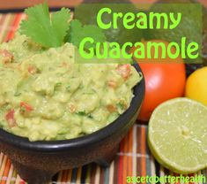 the BEST creamy guacamole aip paleo