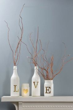 Craft Warehouse Blog  Vinyl Lettering as a stencil makes these unique glass bottle décor.  http://www.coolhomedecordesigns.us/2017/06/06/craft-warehouse-blog/