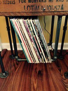 1000 images about vintage vinyl storage on pinterest vinyl record storage record storage and. Black Bedroom Furniture Sets. Home Design Ideas