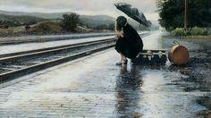 Regen - woman in the rain