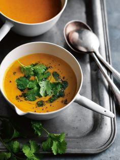 Sweet Potato Curry Soup With Coriander Oil | Donna Hay