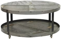 Rustic Cocktail Table-Steel