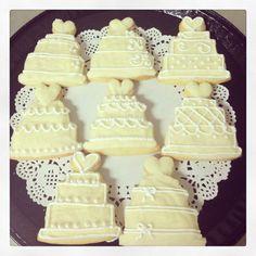 Wedding cake sugar cookies!!