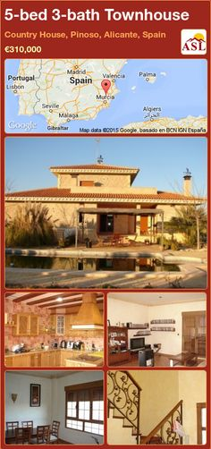 5-bed 3-bath Townhouse in Country House, Pinoso, Alicante, Spain ►€310,000 #PropertyForSaleInSpain