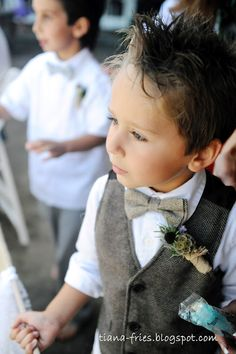Ring bearer - my nephews will have little vests & ties!