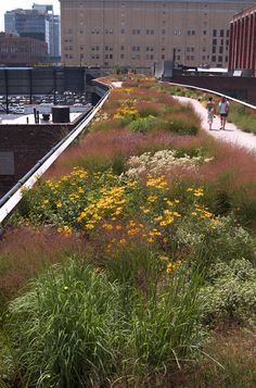 ideas urban landscape design parks high line Landscape Designs, Urban Landscape, Landscape Architecture, Architecture Graphics, Architecture Design, Space City, Urban Park, Rooftop Garden, Public Garden