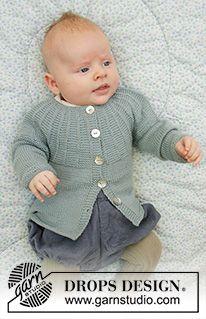 Baby Business Set / DROPS Baby 33-20 - Kostenlose Strickanleitungen von DROPS Design Baby Knitting Patterns, Baby Cardigan Knitting Pattern, Knitting For Kids, Free Knitting, Drops Design, Crochet Baby, Knit Crochet, Drops Baby, Baby Barn