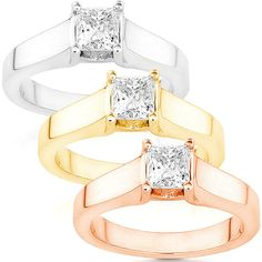 Annello by Kobelli 14k White Gold 5/8ct TDW Diamond Solitaire Ring (G-H/ I1-I2) (Rose - Size 10.5), Women's, White G-H