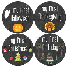 Baby's My First Holiday Sticker Set