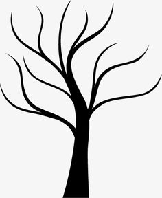Trunk silhouette PNG and Vector Tree Drawing Simple, Book Page Flowers, Cherry Blossom Painting, Tree Stencil, Paper Quilling Jewelry, Cute Love Pictures, Silhouette Png, Painting Activities, Drawings Of Friends