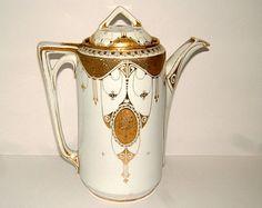 Victorian Teapot Antique Coffee Pot Art Nouveau Coffee Pot Antique Teapot Vintage Teapot Vintage Serving Vintage Kitchen Vintage Coffee Pot