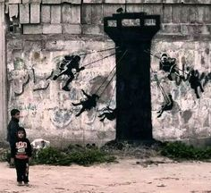 Banksy, Gaza palestine on ArtStack #banksy #art