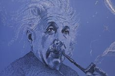 Albert Einstein painting with math. Look close the artist used math formulas to paint this. Found this at the Portland Saturday Market in Portland OR