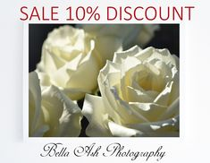 NEW YEAR SALE! Beautiful white flowers photography art print, a stylish addition to any room. 10% discount at my etsy shop, offer ends 31st January #artprints #newyearsale #sale #etsysale #bedroomdecor #artprintssale #bedroomdecorideas #januarysale #sale2018