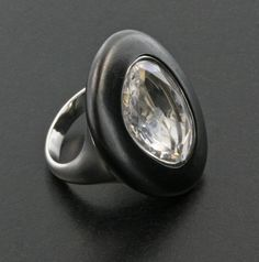 Portrait Cut Diamond, Black Jade and Platinum Ring by James de Givenchy #Taffin #JamesdeGivenchy #Ring