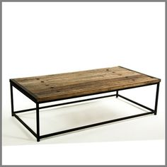 RECLAIMED ELM AND IRON COFFEE TABLE - look great in any space whether coastal, country or city home.