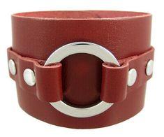 Zeckos Brown Leather Chrome O Ring Wristband Bracelet for sale online Bracelets For Men, Bangle Bracelets, Beard Grooming Kits, Leather Wristbands, Adjustable Bracelet, Bracelet Sizes, Bracelet Designs, Grey Leather, Stainless Steel Bracelet