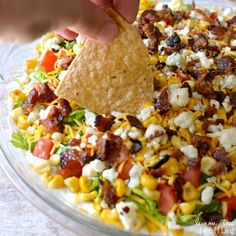 Cobb Dip. They put it with tortilla chips, but I think maybe pita chips, if at all.