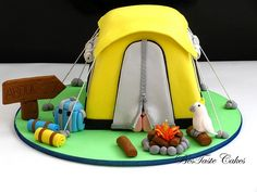 Camping cake !!! *Let's sleep in the tent together , my fellow dessert lovers*