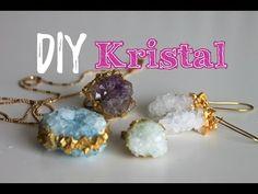 Kristal Kolye, Küpe Yüzük / KENDİN YAP / DIY Borax Crystals / Mother's Day - YouTube
