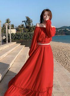 holiday beach dress,Seaside holiday beach dress, red sexy