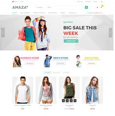 Amaza is an HTML template designed specifically for e-commerce. This is a clean and modern template with more than 29 pages include.