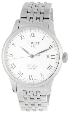 Le Locle Silver Textured Dial Watch