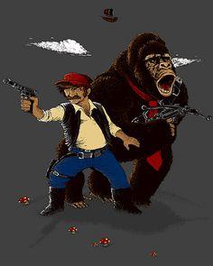 Donkey Kong, Mario, and Star Wars mash-up for IFW. Star Wars Love, Star Wars Art, Troll, Amour Star Wars, Mundo Dos Games, Nintendo, Zelda, Donkey Kong, Fan Art