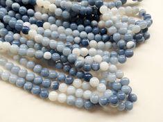 Blue Opal Beads Blue Opal Plain Round Balls Blue by gemsforjewels