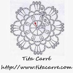 'Tita Carre' Tita Carré - Agulha e Tricot : Flor vermelha em crochet e poesia.