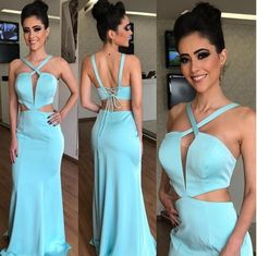 10 VESTIDOS DE FESTA TIFFANY Cheap Gowns, Cheap Evening Dresses, Formal Dresses, Vestidos Tiffany, Colored Highlights, Party Gowns, Dress Party, Mermaid Prom Dresses, Dress For You