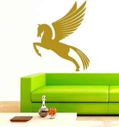 Winged Horse Pegasus Vinyl Decals Wall Sticker by VinylDecals2U, $24.65
