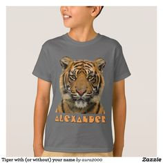 Tiger T-Shirt with (or without) your name
