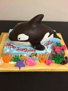 Whale cake from Rueter bakery Chicago