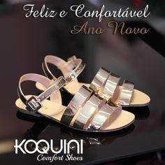 Charme é charme a qualquer hora em qualquer dia. Ainda mais com tanto brilho e conforto #koquini #comfortshoes #euquero