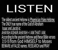 AHAYAH ASHAR AHAYAH, I AM THAT I AM, the ONLY name of the God of Abraham Isaac and Jacob of the bible given unto MOSES himself in Exodus 3:13-15. The ONLY name unto ALL generations just like the Word saids. Research and pray and the heavenly Father will show you THIS is His name #HebrewIsraelites spreading TRUTH #ISRAELisBLACK