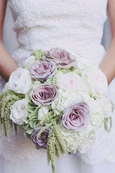 Gorgeous Rose Bouquet Vine Floral Event Design | lavender and mint wedding
