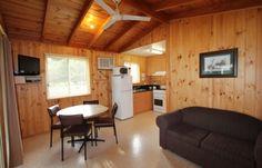 Wyr river accommodation standard cabin lounge
