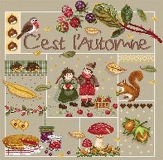 C'est l'Automne From Madame La F�e - Cross Stitch Charts - Embroidery - Casa Cenina