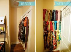 11 clothing storage hacks for girls with way too many clothes Small Closet Space, Small Space Storage, Small Closets, Clothes Storage Ideas For Small Spaces, Diy Clothes Storage, Clothing Storage, Organize Clothing, 11 Clothing, Clothing Hacks