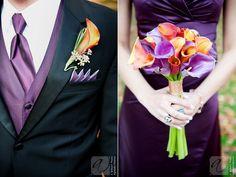 Wedding colors orange purple calla lilies 57 ideas for 2019 Purple Wedding Flowers, Orange Wedding, Wedding Colors, Wedding Bouquets, Prom Flowers, Bridesmaid Bouquets, Bridesmaids, Wedding Dresses, Trendy Wedding