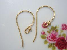 Save Bulk 4 pairs  Handmade Findings 24K Vermeil by TerraFinds, $9.90