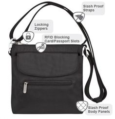 Safer Travels with Travelon Classic Anti-Theft Mini Shoulder Bag ( +Giveaway)- Ends 5/31 @Travelon
