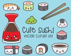 Kawaii Vector- Clip Art~ Sushi