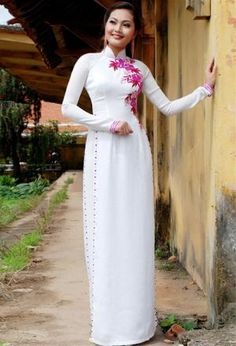 Ao dai: like the flower print, not the dots