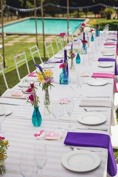 Such a colorful wedding! Outdoor Celebration of Love & Colour {Winelands Wedding}