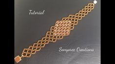 Stunning Beaded Bracelet!!! (Right Angle weave stitch)