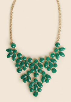 Happenstance Emerald Necklace   Modern Vintage Jewelry   Modern Vintage Accessories