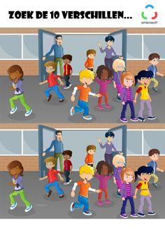 Ambrasoft - Knutselplaat voor kinderen: Zoek de 10 verschillen