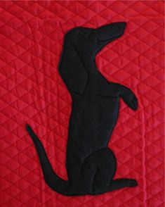 Dachshund Profile Applique Dog bed Boodle Tunnel by rendachs